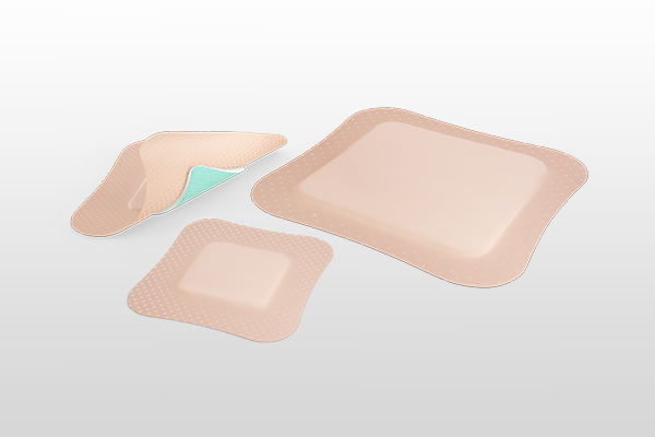Showing Sorbact Foam Gentle Border product range. 3 different sizes and shapes.